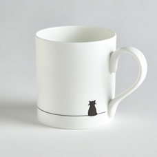 Sitting Cat Mug by Jin Designs